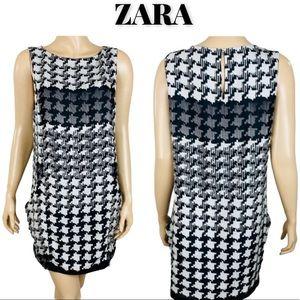 Never Worn Zara Houndstooth Shift Dress, Size M